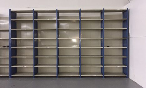 used commercial shelves